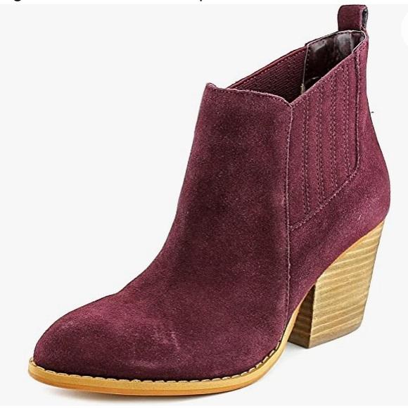 Crown Vintage Purple Velvet Leather Boot